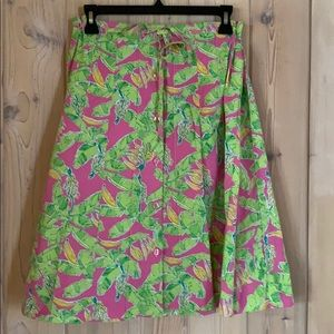 Key West •Pleated Pink & Lime Skirt • Gorgeous